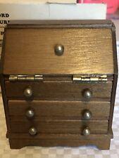 Vintage Concord Miniatures Wood Winthrop Desk   w Box