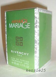 GIVENCHY AMARIGE MARIAGE WOMEN PERFUME EDP 1.7 OZ SPRAY 50 ML NIB