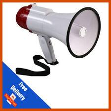 MEGAFONO 10w Pistol Grip Loud Altoparlante Sirena Megafoni | Loud | Rosso/Bianco