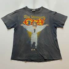 Vintage 80s Ozzy Osbourne The Ultimate Sin Tour T-Shirt Size M Black Distressed