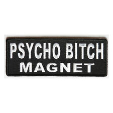 Embroidered Psycho Bitch Magnet Sew or Iron on Patch Biker Patch