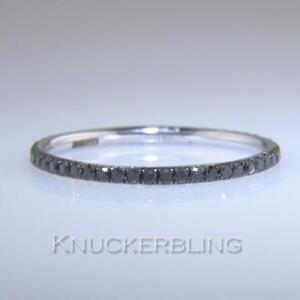 Black Diamond Eternity Ring: Certified 0.30ct F VS Brilliant Cut 18ct White Gold