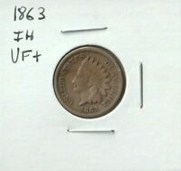 1863 Indian Head Cent in VF Condition