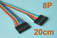 """20 Pcs 20cm ( 7.9"""" ) Length Dupont Wire Cable 8p 8p Pin Header 2.54mm Pitch"""