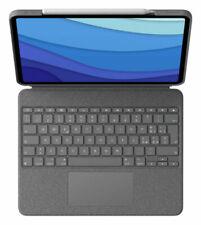 """Logitech Combo Touch Custodia con Tastiera per 12,9"""" Apple iPad Pro 5a Gen. - Oxford Grey (Italiano, QWERTY)"""