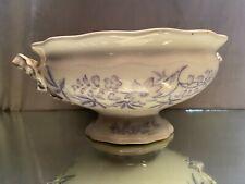 Saladier coupe sur piédouche en porcelaine anglaise XIXe