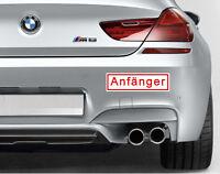 "2x Magnetschild Automagnet ""Anfänger"" Fahranfänger Magnetaufkleber PKW Schild"
