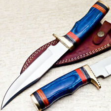 "UNIQUE CUSTOM HAND FORGED D2 STEEL BLADE HUNTING KNIFE ""HARD WOOD"" UT-2124"