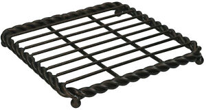 Mikasa Rope Wrought Iron 7 Inch Square Hot Pan Rest / Pot Trivit