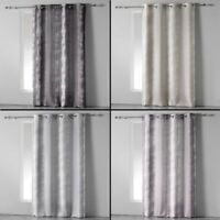 Rainbow Stripes Ready Made Single Eyelet Curtain Voile Panel - Long Drop