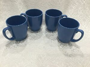 Corelle Livingware 11-Oz Blue Stoneware Mug (Set of 4) Robins Egg shade