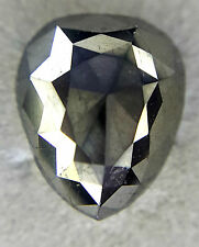 Sale ! 5.70 TCW Black color Pear shape Rose Cut African Loose Natural Diamond !