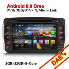 Android 8.0 Navi Autoradio DAB+ WiFi CD Mercedes Benz C/CLK/M/G Klasse W203 W209