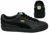 Puma Basket Classic Soft Leather Lace Up Mens Black Trainers 351912 25 B15B