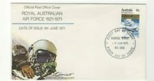1971 Australia - Royal Australian Air Force 50th Anniv Fdc From Collection 6/40