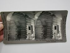 ANTIQUE VINTAGE STEREOSCOPE 3-D VIEWER PHOTO CARD LINCOLN CABIN KY KEYSTONE