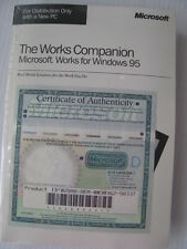 Vintage Computer Software & Book Microsoft Works Companion Win95 Windows 95 NEW