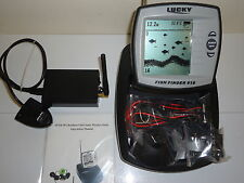 Bait BOAT WIRELESS FISH FINDER - 300 m Gamma. grande schermo LCD, ID pesce, zoom