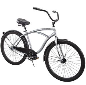 "Huffy 26"" Cranbrook Men's Beach Cruiser Comfort Bike, Silver - FAST SHIP"