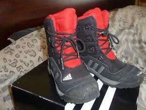 ADISNOW BLACK'N RED TALL WATERPROOF SNOW BOOTS WINTER SNEAKER s-US 12,5 L.Kid