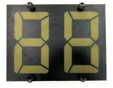 """Fairplay Translux Amber Double Number Scoreboard Digit Panel (12"""" Digits)"""