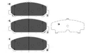 Disc Brake Pad Set-Premium Ceramic Pads Front,Rear Dash 4 Brake CFD1509