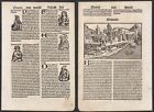 1497 Bologna Italia Italy Schedel Inkunabel Incunable woodcut Holzschnitt