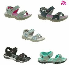 Ladies Walking PDQ Sandals Grey Black Blue Floral Touch Fastening Size 3 - 8