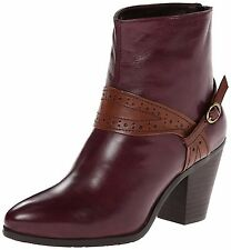 EVERYBODY BY BZ MODA SHOES SACCARE BOOTIES HARNESS ANKLE BOOTS VINO NEW $230 9