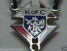 †  HTF VINTAGE DEDICATED TO KNIGHTS OF COLUMBUS ENAMELED CENTER CAPPED ROSARY †