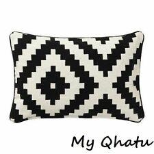 "IKEA LAPPLJUNG RUTA Cushion PILLOW COVER 16 x 26"" 100% Cotton Black & White NEW"