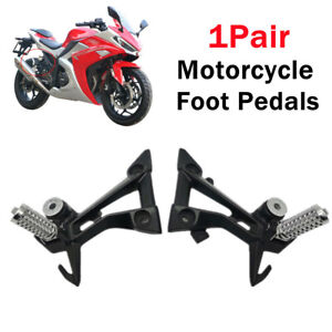 1Pair Motorcycle Rear Foot Pegs Rest Pedal Pad Foot Bracket Refit Shift Lever