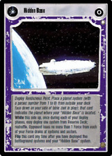 Decipher Star Wars CCG - Hidden Base /Systems Will Slip Through Your Fingers