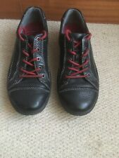 ECCO MENS SHOES 43 Black With Red Laces