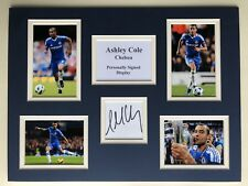 """Chelsea Ashley Cole Signed 16"""" X 12"""" Double Mounted Display"""