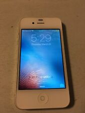 Apple iPhone 4s - 8GB - White (AT&T) A1387 (CDMA + GSM) IOS VERSION 6.0.00