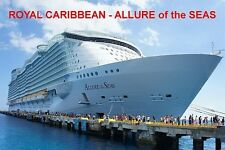 SOUVENIR FRIDGE MAGNET of CRUISE SHIP ALLURE of the SEAS - ROYAL CARIBBEAN