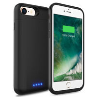 6000mAh Lightning Rechargeable Extended Charging Battery Case Cover For iPhone 8