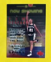 1999-00 Upper Deck Now Showing #NS24 Tim Duncan Insert Card San Antonio Spurs