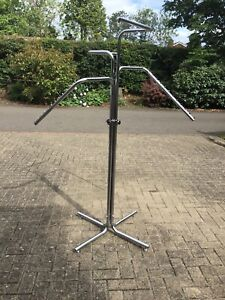 clothes shop fittings. Free Standing With Four Arms. Adjustable Height