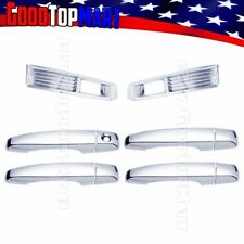 For Cadillac CTS 2008-2011 Chrome Covers Set Front Fog Lights + 4 Doors w/out PK