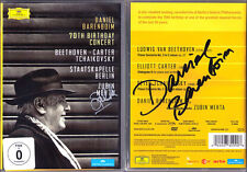 DVD Daniel BARENBOIM Zubin MEHTA Signed TCHAIKOVSKY Piano Concerto 1 BEETHOVEN 3