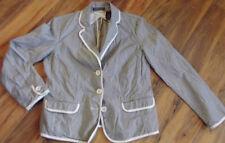 Cotton Blend Machine Washable Striped Regular Coats & Jackets for Women