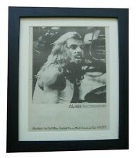 More details for alan white+yes+ramshackled+poster+ad+rare original 1976+framed+fast world ship