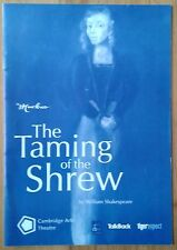 The Taming of the Shrew programme Marlowe Cambridge Arts Theatre 2003
