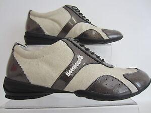 Bamboo L602061 Femmes Beige / Marron,Blanc Pistolet Lacet Plat Chaussures (R23B)
