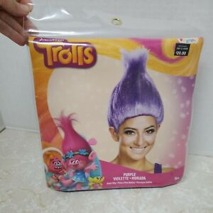 Dreamworks Trolls Purple Adult Wig One Size Disguise New 14+ Cosplay Dress Up