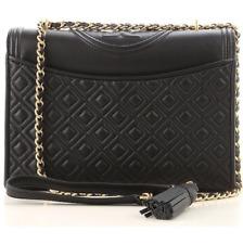 Authentic TORY BURCH Large Fleming Convertible Shoulder Bag NWT Black 43833 sale