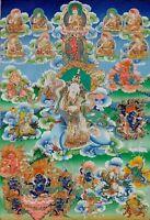 "Thangka Achi Chokyi Drolma ""Top Drucke"" Buddha Tibet Buddhismus Nepalbuddha T02"