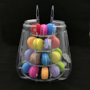 4Tier Clear Macaron Stand Rack French Macaroons Round Display Tower Wedding